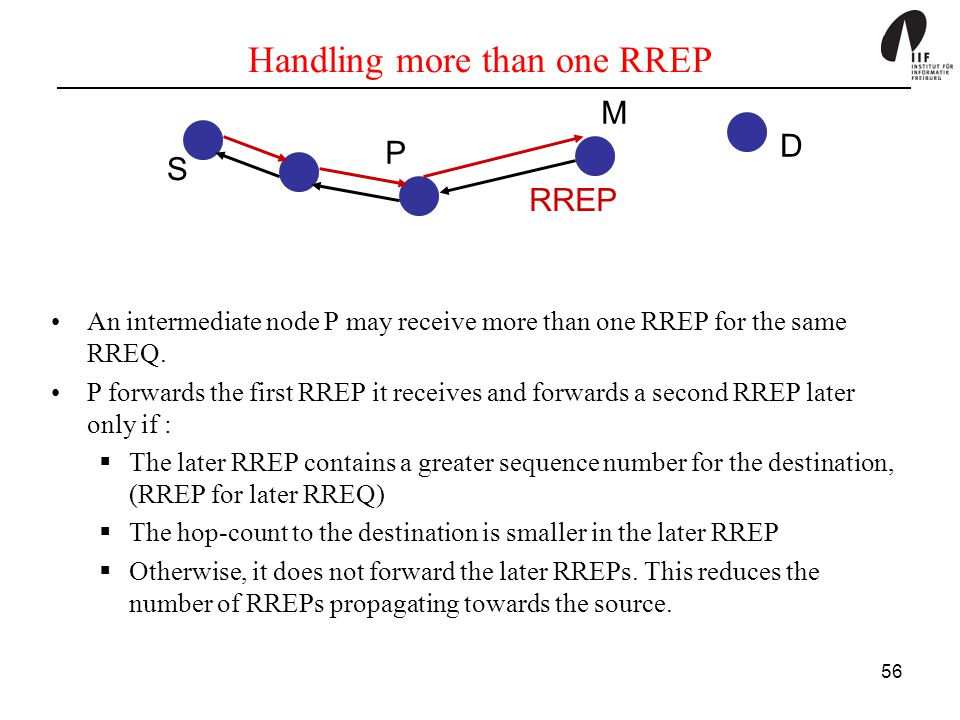 Handling more than one RREP