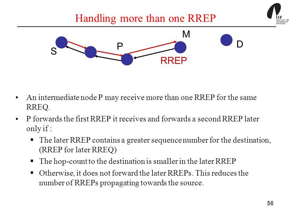 Handling more than one RREP