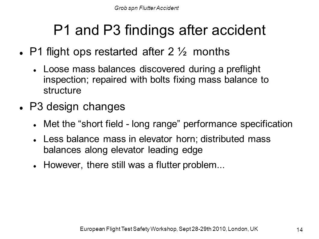 P1 and P3 findings after accident