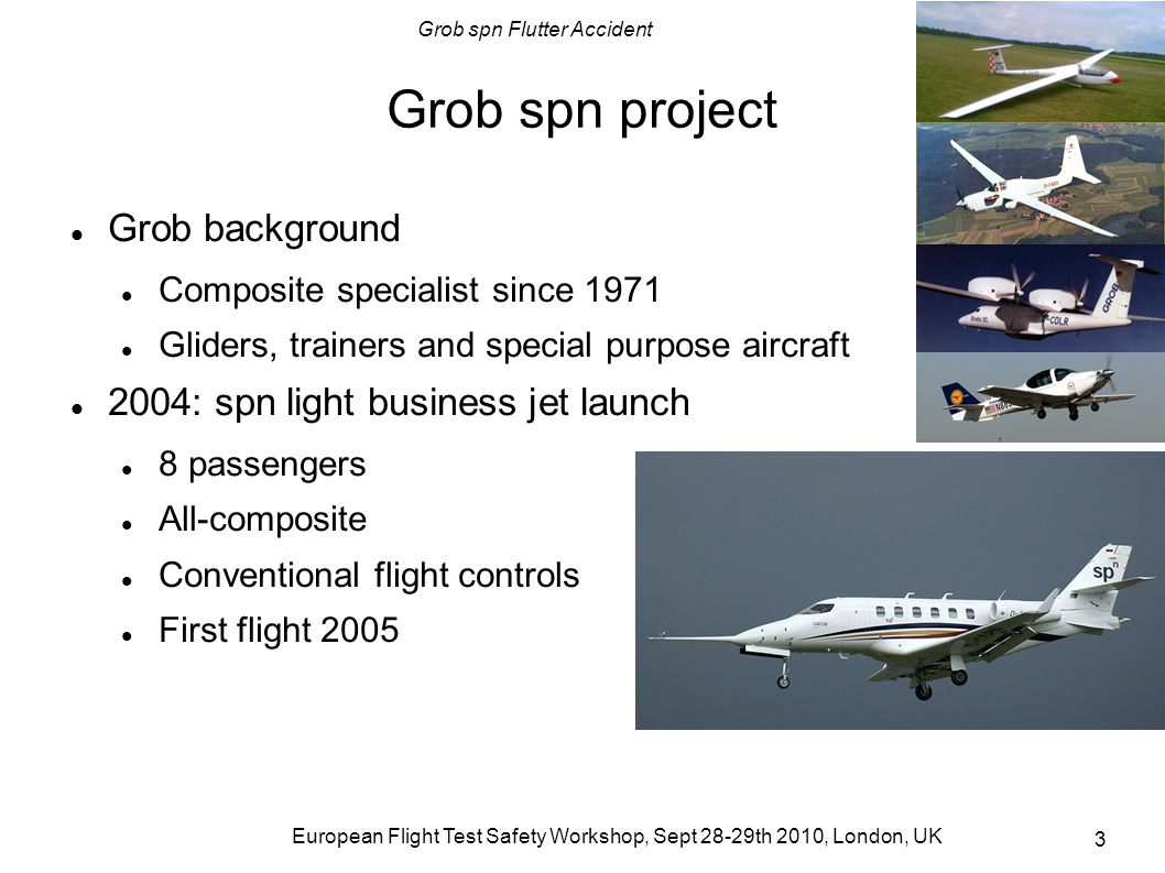 Grob spn project Grob background 2004: spn light business jet launch