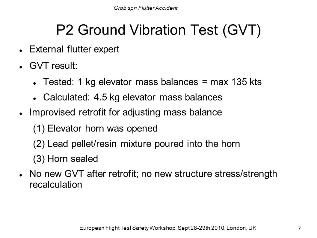 P2 Ground Vibration Test (GVT)