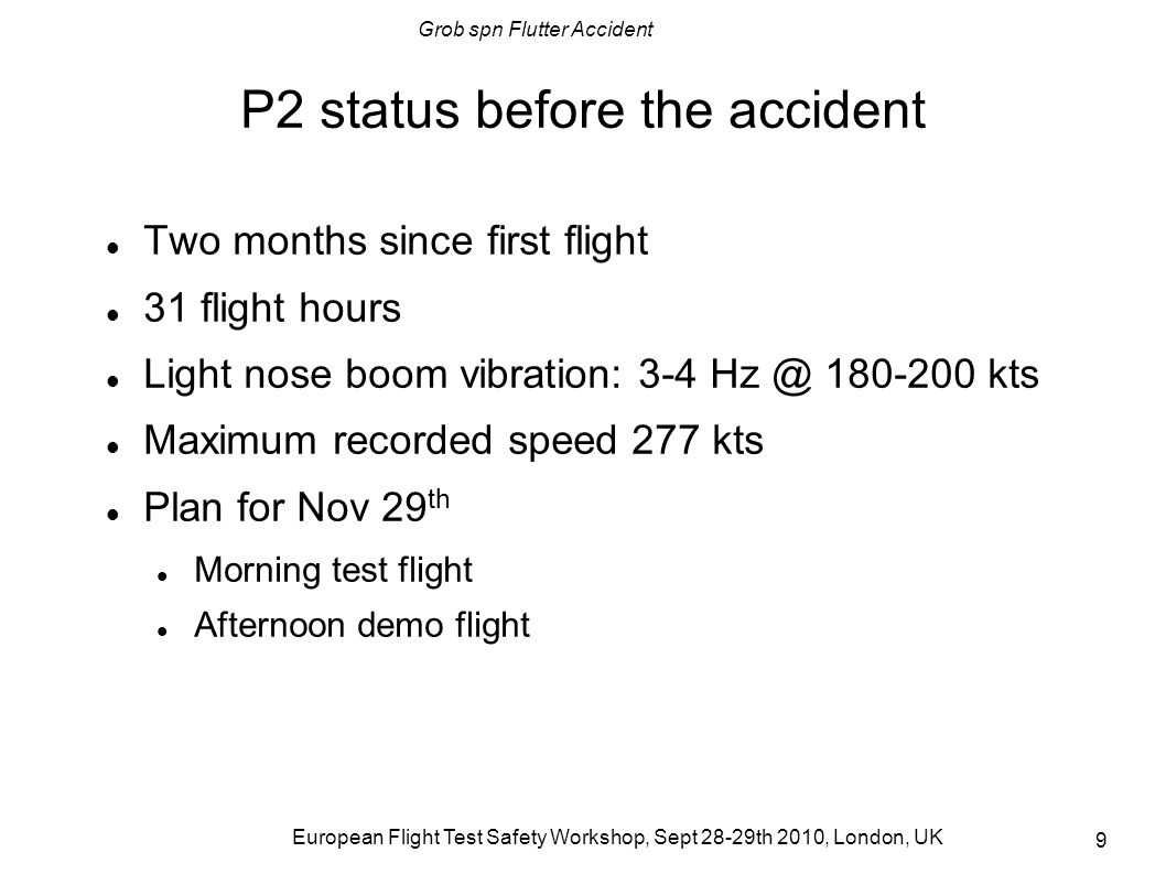 P2 status before the accident