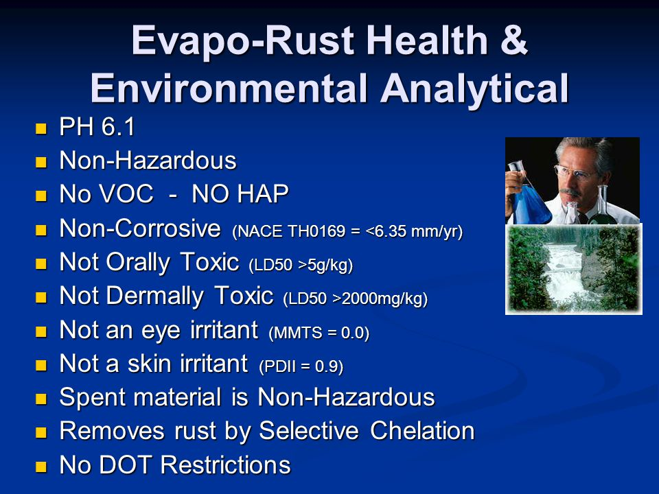 Evapo-Rust Health & Environmental Analytical