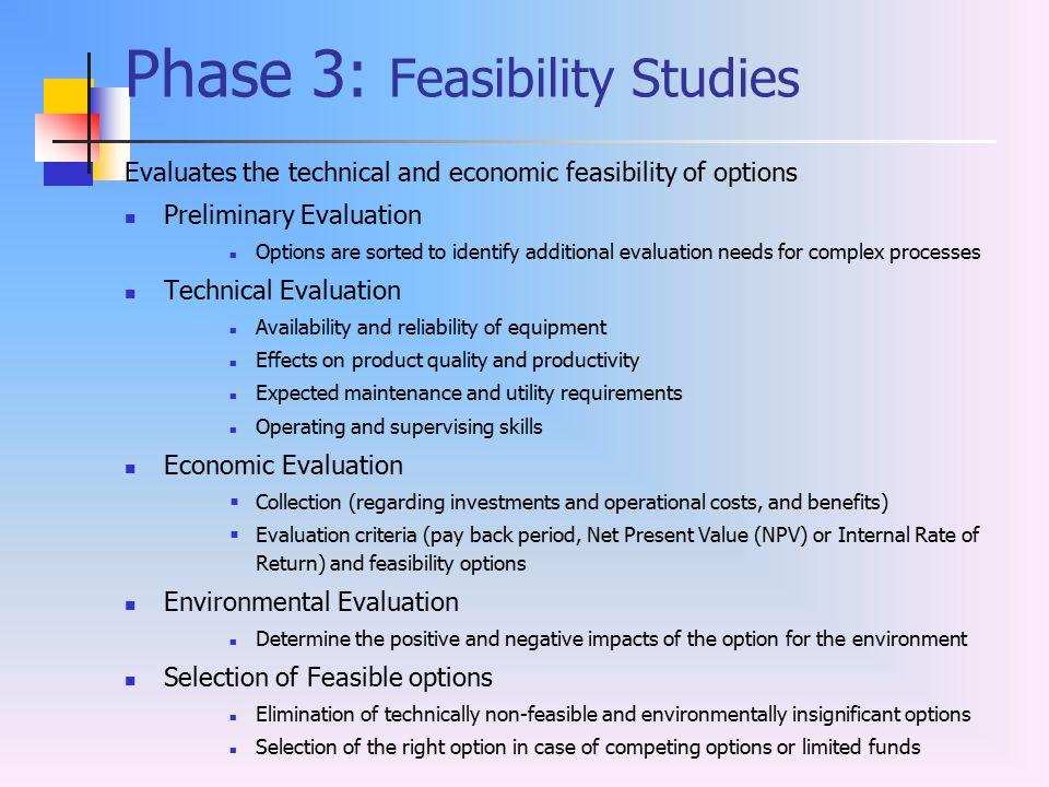 Phase 3: Feasibility Studies