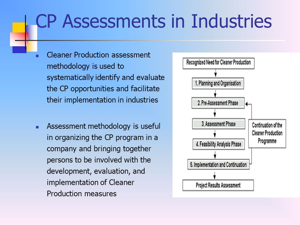 CP Assessments in Industries