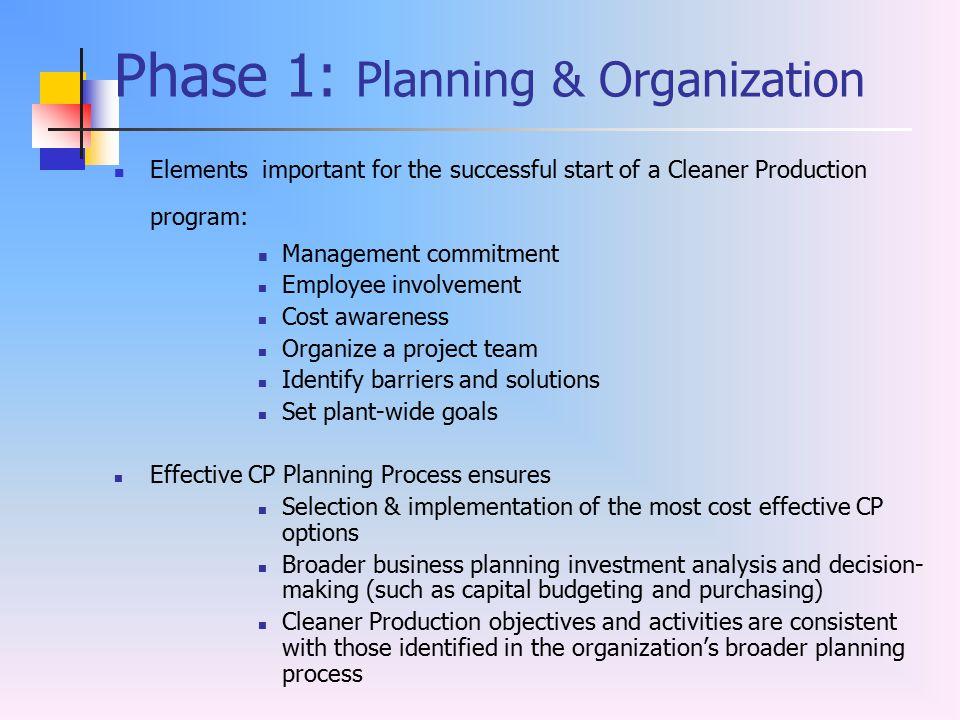 Phase 1: Planning & Organization