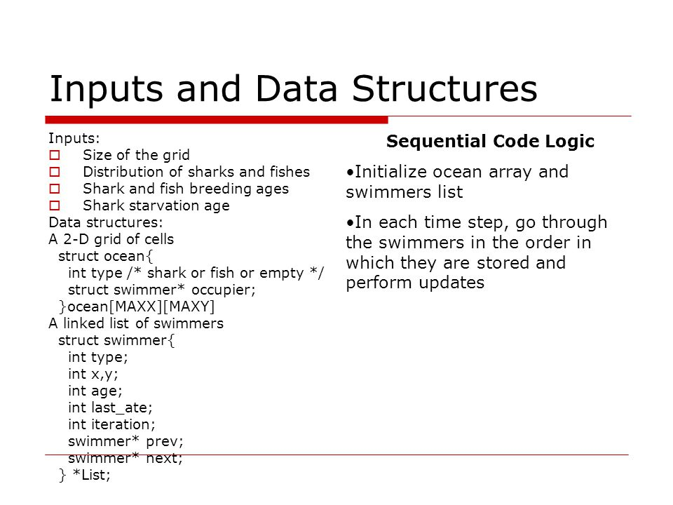 Inputs and Data Structures