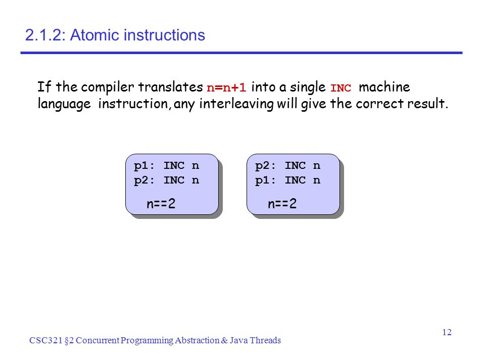 2.1.2: Atomic instructions
