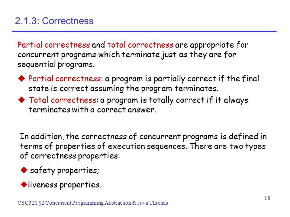 2.1.3: Correctness