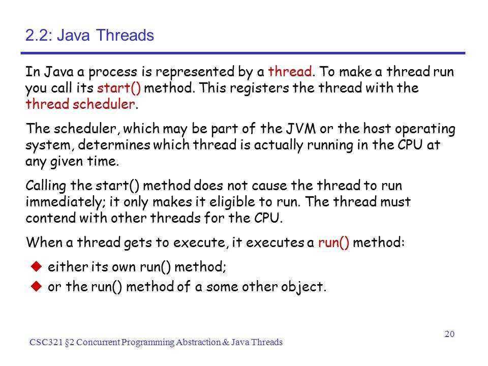 2.2: Java Threads