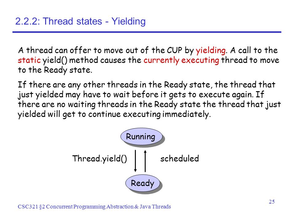 2.2.2: Thread states - Yielding