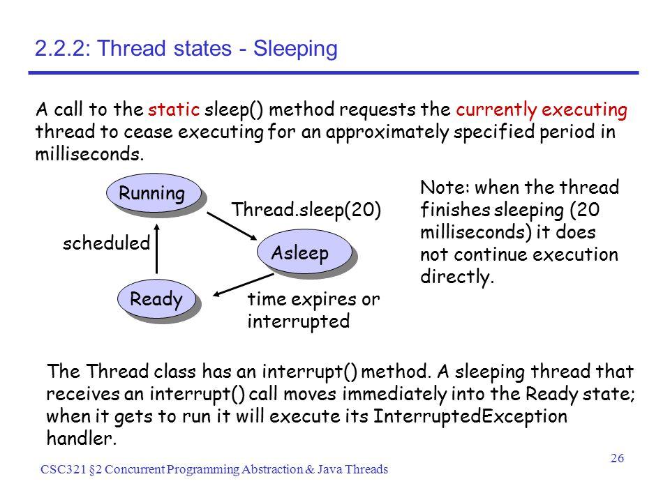 2.2.2: Thread states - Sleeping