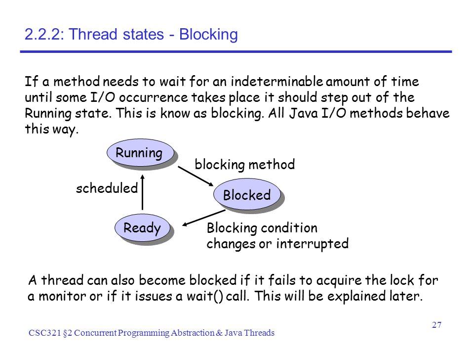 2.2.2: Thread states - Blocking