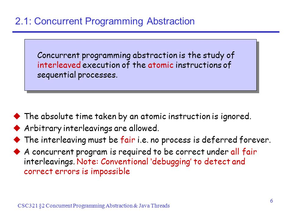 2.1: Concurrent Programming Abstraction