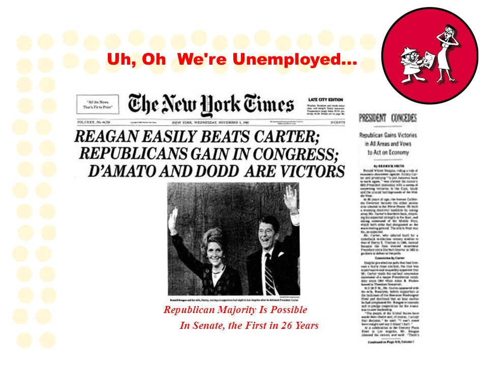 Uh, Oh We re Unemployed... Republican Majority Is Possible