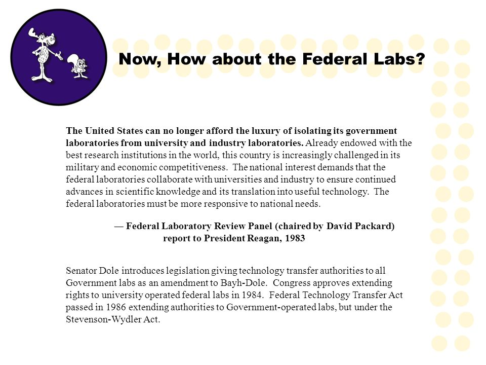 Now, How about the Federal Labs