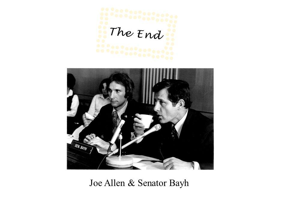 Joe Allen & Senator Bayh