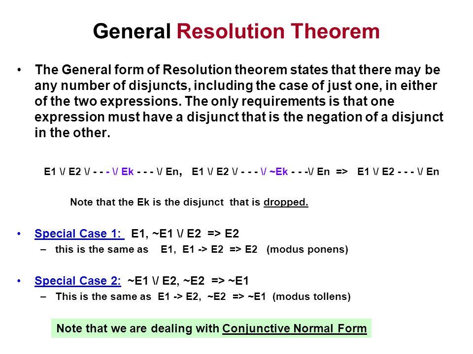 General Resolution Theorem
