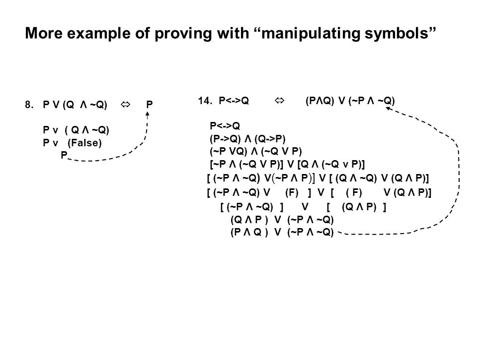More example of proving with manipulating symbols