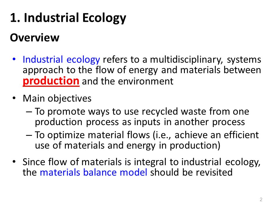 1. Industrial Ecology Overview