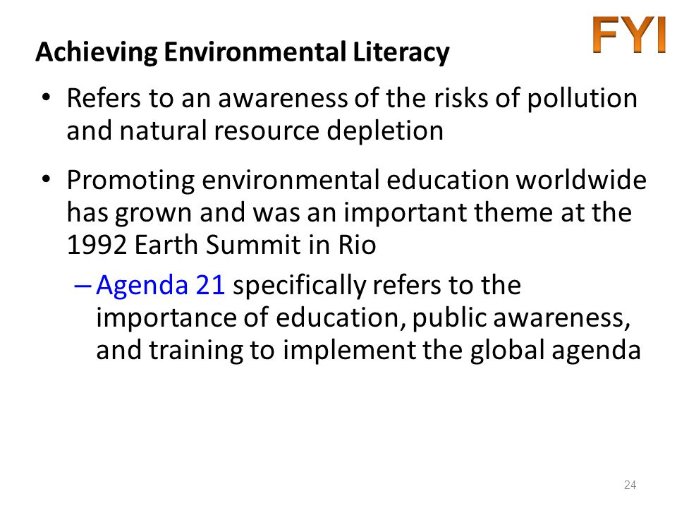 Achieving Environmental Literacy