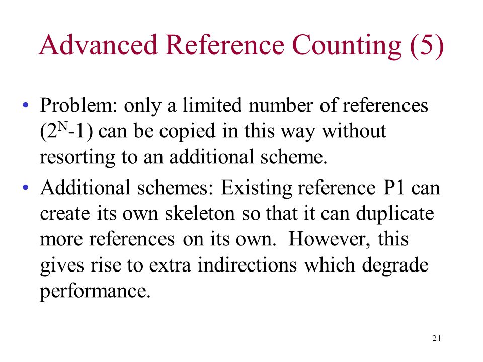Advanced Reference Counting (5)