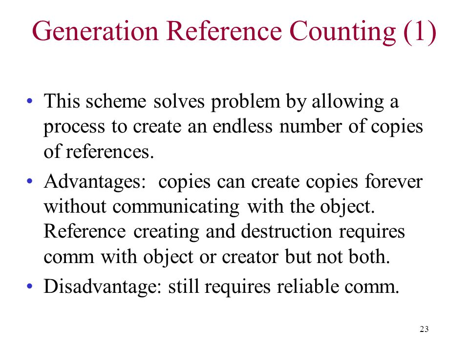 Generation Reference Counting (1)
