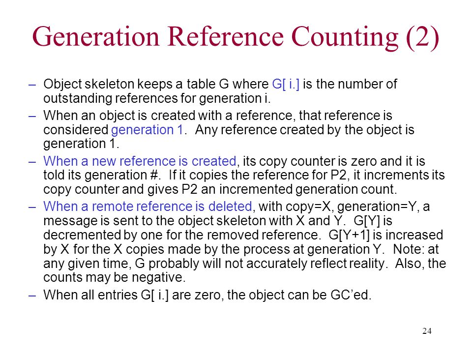 Generation Reference Counting (2)