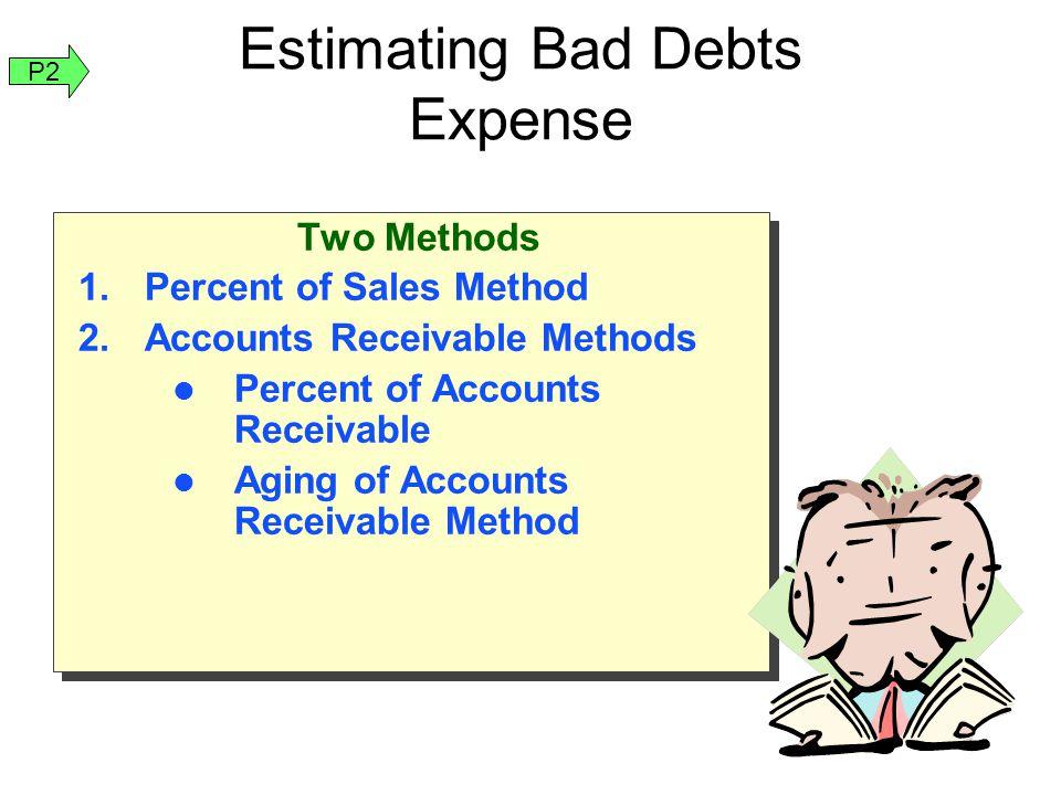 Estimating Bad Debts Expense