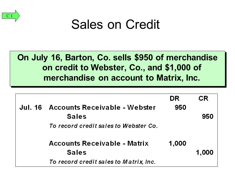 C 1 Sales on Credit.