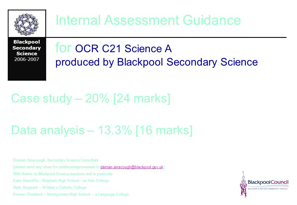 Blackpool Secondary Science