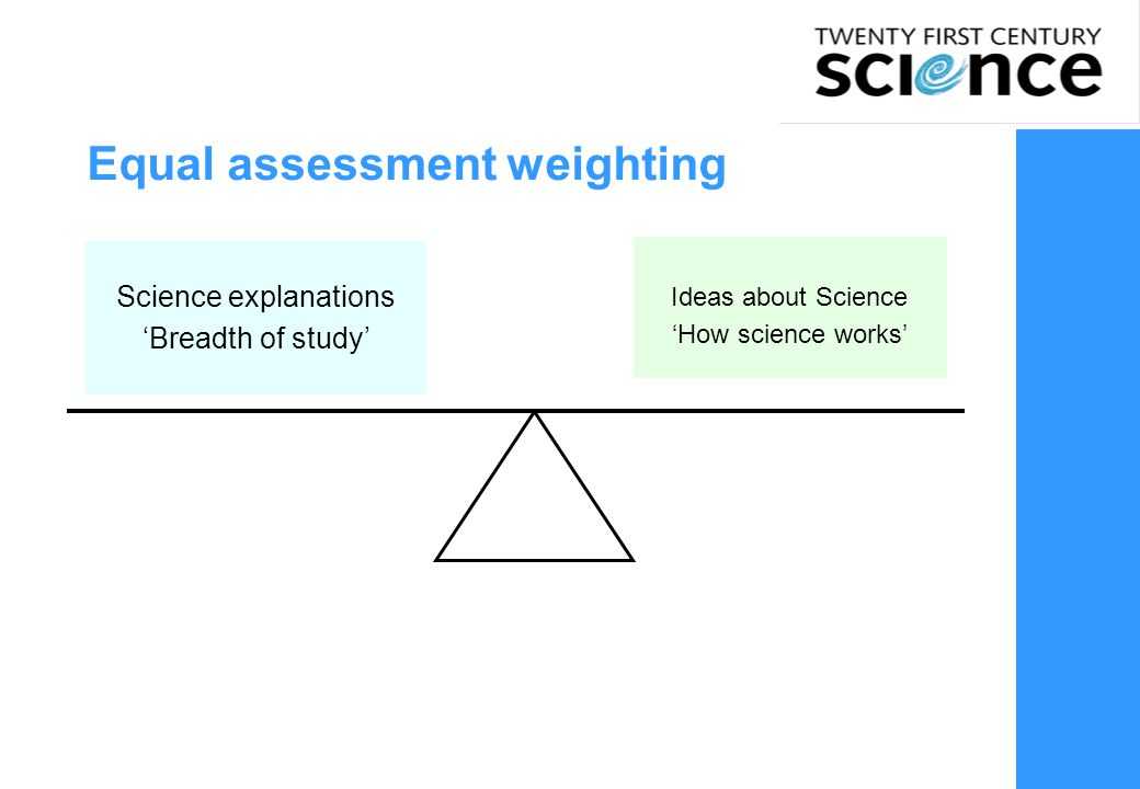 Equal assessment weighting