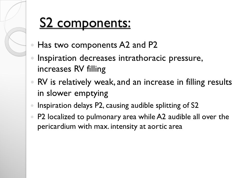 S2 components: Has two components A2 and P2