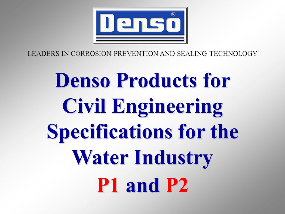 Civil Engineering Specifications for the Water Industry