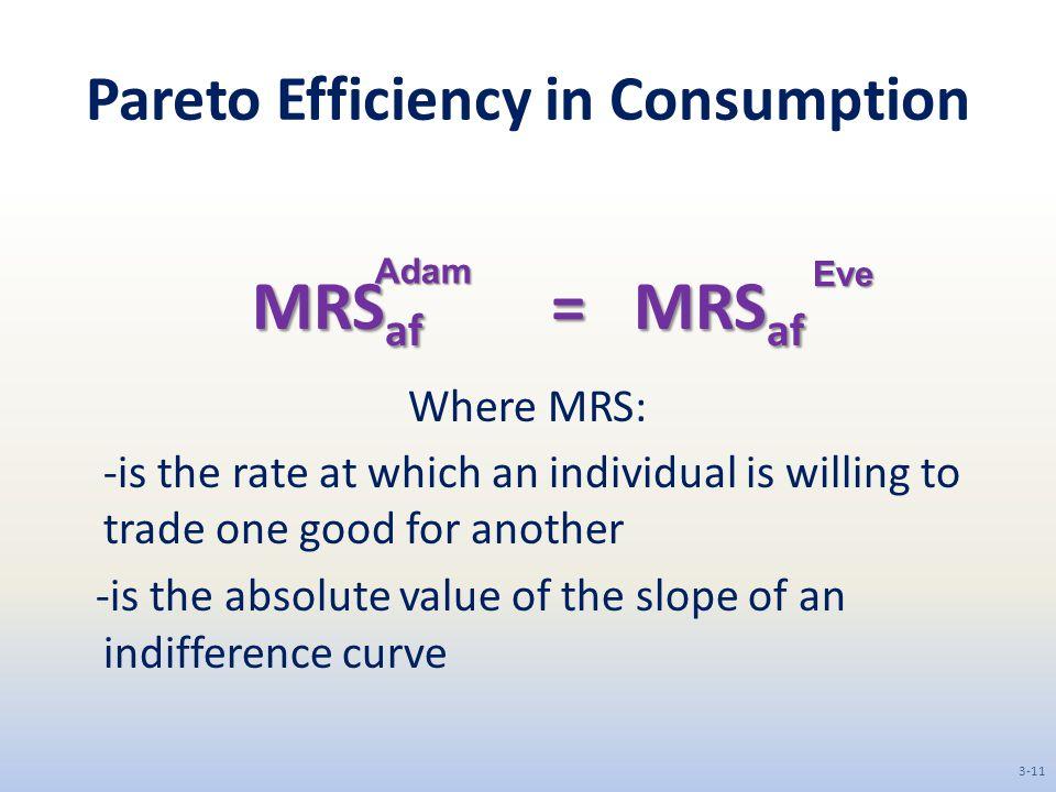 Pareto Efficiency in Consumption