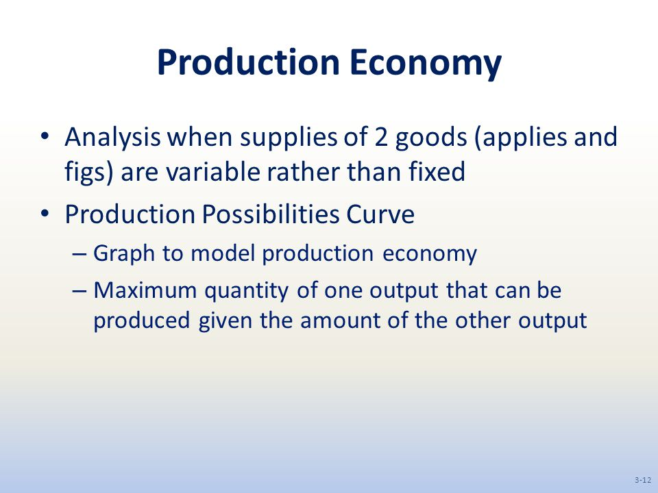Production Economy Analysis when supplies of 2 goods (applies and figs) are variable rather than fixed.
