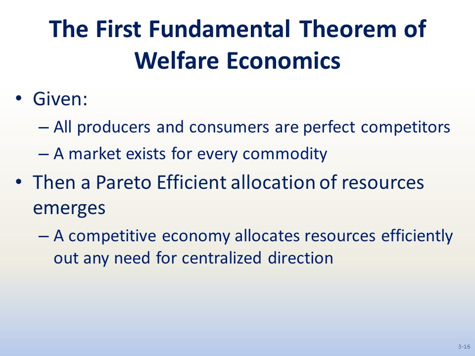 The First Fundamental Theorem of Welfare Economics