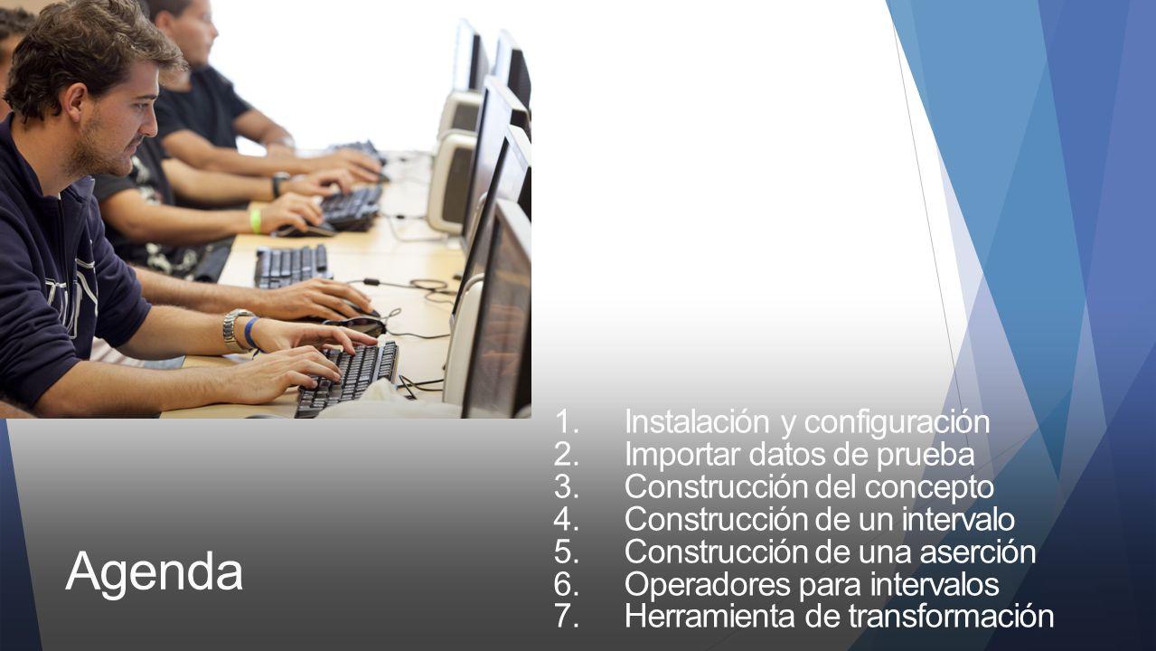 Agenda Instalación y configuración Importar datos de prueba
