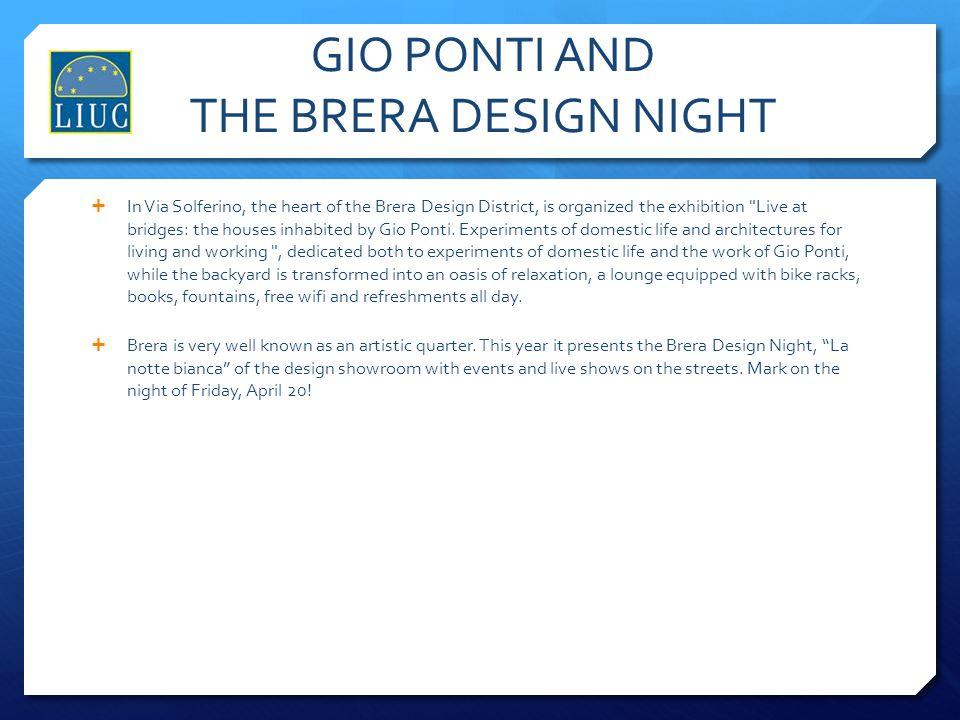 GIO PONTI AND THE BRERA DESIGN NIGHT