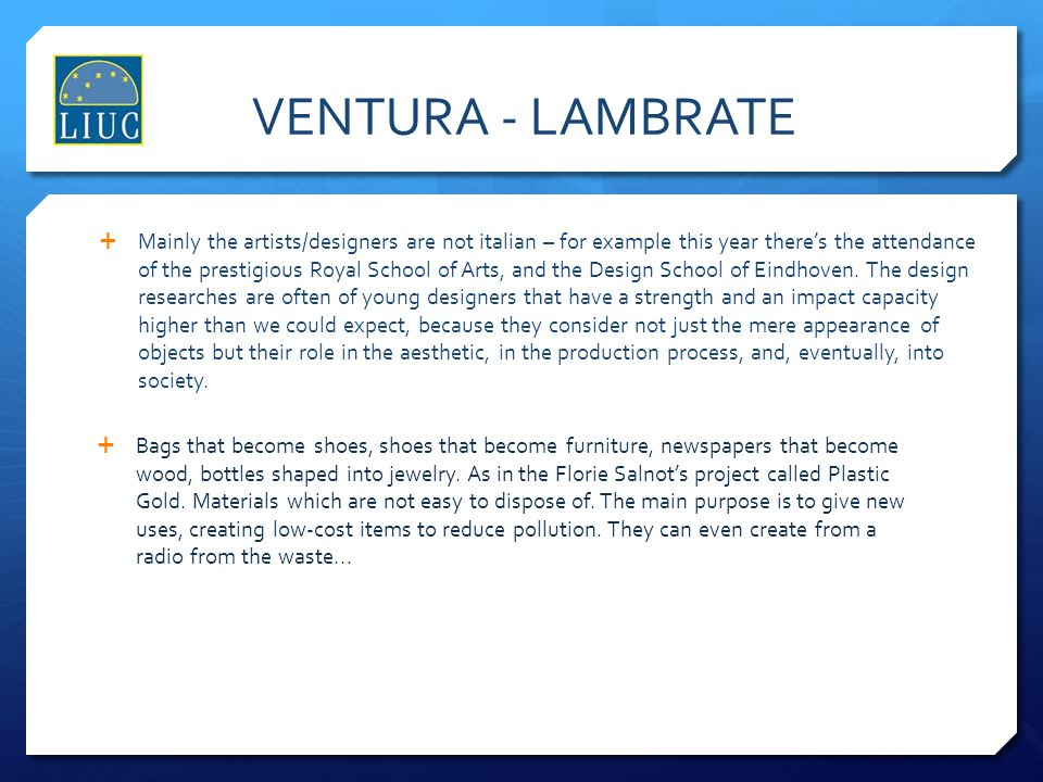 VENTURA - LAMBRATE