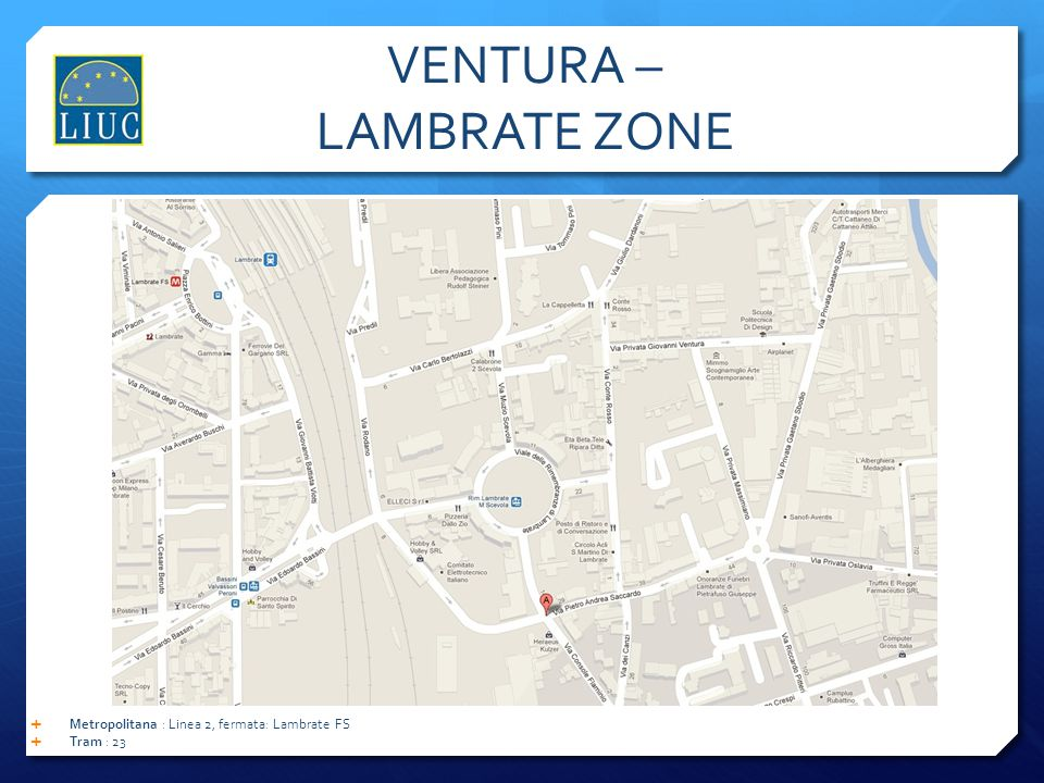 VENTURA – LAMBRATE ZONE