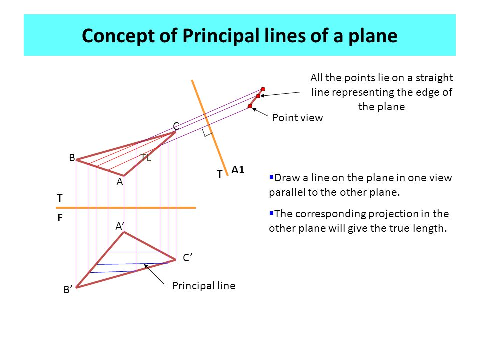 Concept of Principal lines of a plane