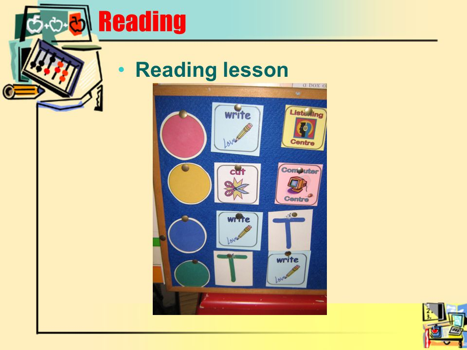 Reading Reading lesson