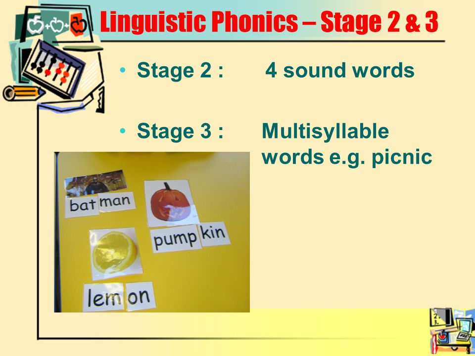 Linguistic Phonics – Stage 2 & 3