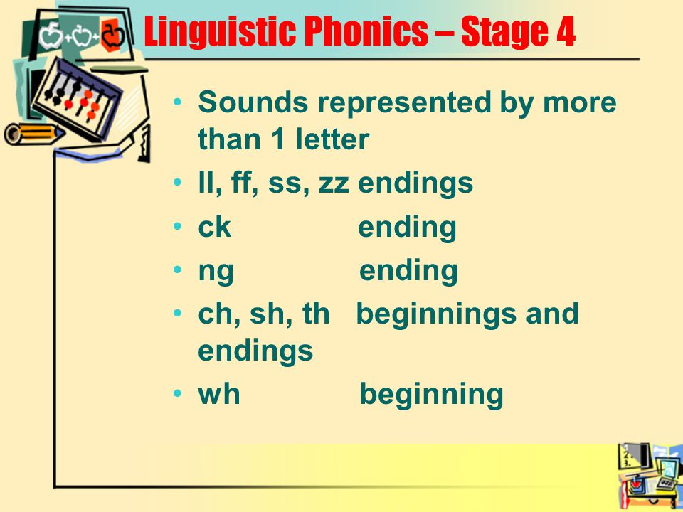 Linguistic Phonics – Stage 4