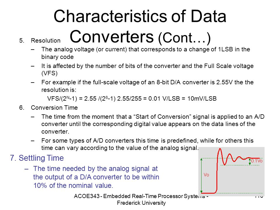 Characteristics of Data Converters (Cont…)