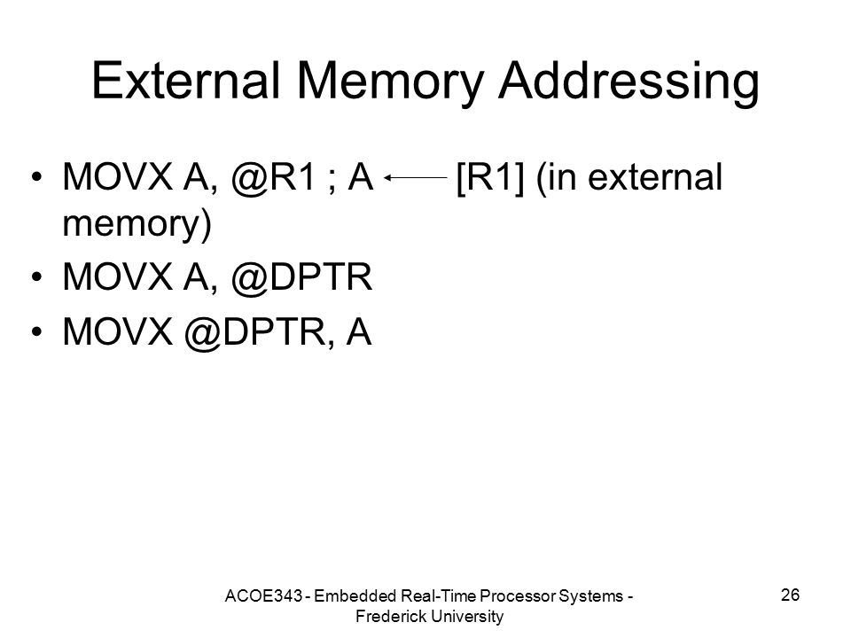 External Memory Addressing