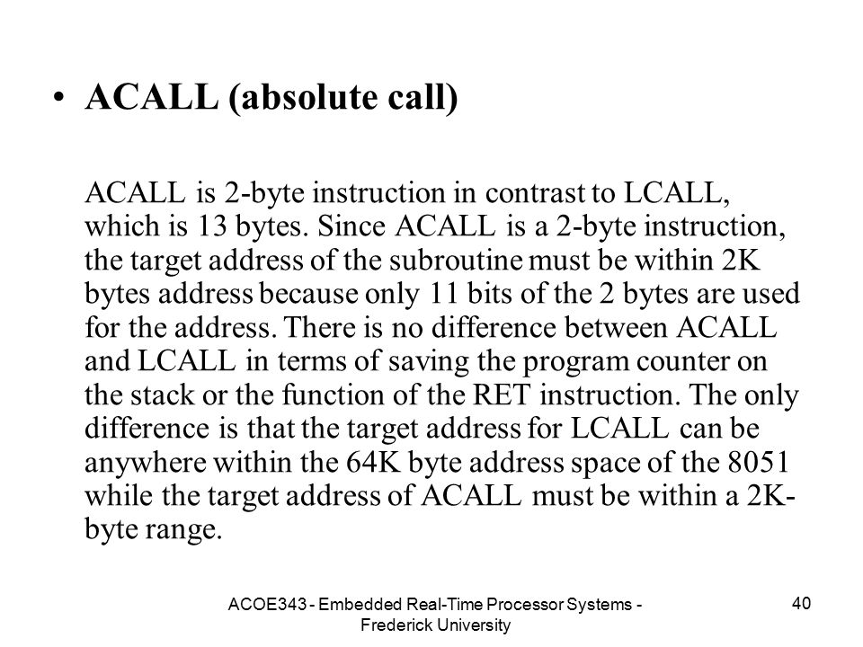 ACOE343 - Embedded Real-Time Processor Systems - Frederick University