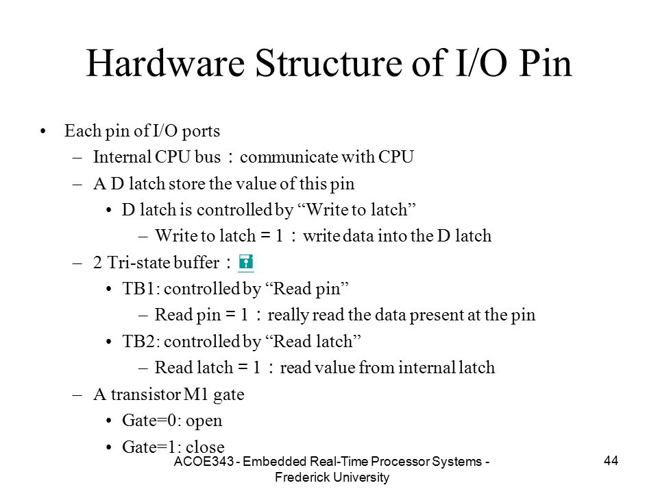Hardware Structure of I/O Pin