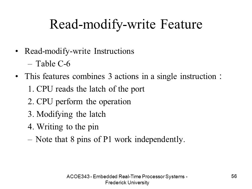 Read-modify-write Feature